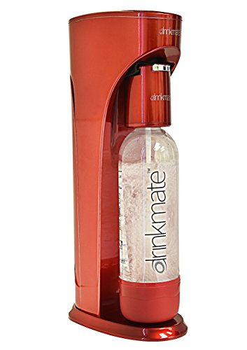 DrinkMate Carbonated Beverage Maker WITHOUT CO2 Cylinder (red) (Soda Cylinder compare prices)