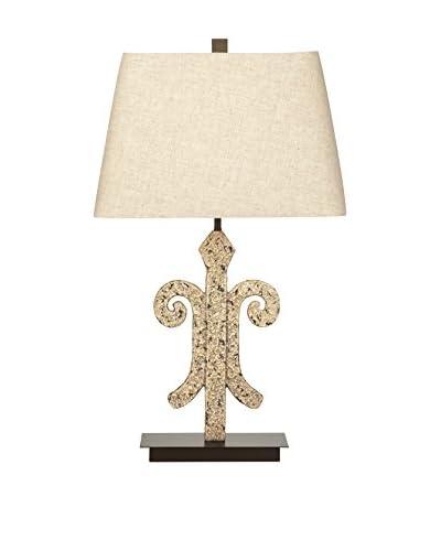 Bassett Mirror Co. Augusta 1-Light Table Lamp, Cream
