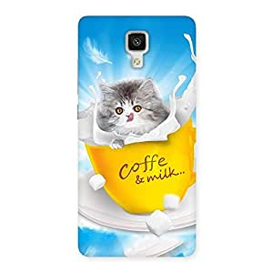 Kitty Coffee Back Case Cover for Xiaomi Mi 4