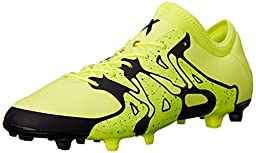 adidas Performance Men\'s X 15.2 FG/AG Soccer Cleat, Solar Yellow/Core Black/Solar Yellow, 12 M US