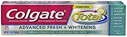 Colgate Total Advanced Fresh Whitening Gel Toothpaste, 5.8-Ounce (Pack of 2)