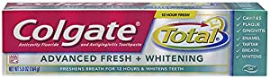 Colgate Total Advanced Fresh + Whitening Gel Toothpaste, 5.8oz (Pack of 2)