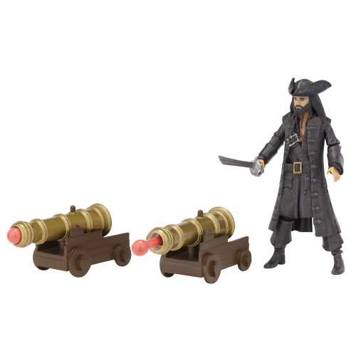 Pirates Of The Carribean Battle Pack Wave #1 Blackbeard With Dual Blasting Cannons