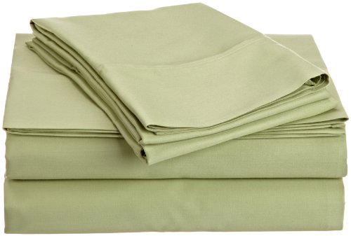 Hn International Group Castle Hill 310 Thread Count 100-Percent Egyptian Cotton Solid Celedon King Size Sheet Set