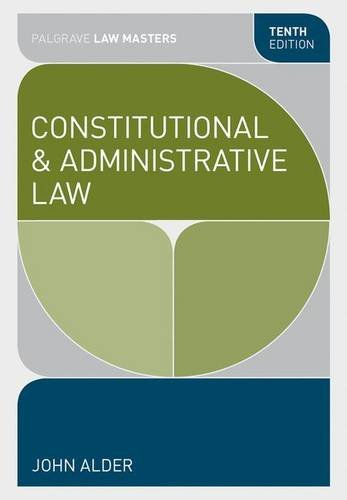 Constitutional and Administrative Law (Palgrave Law Masters)