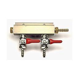 2-way Air Co2 Distributor Manifold 5/16\