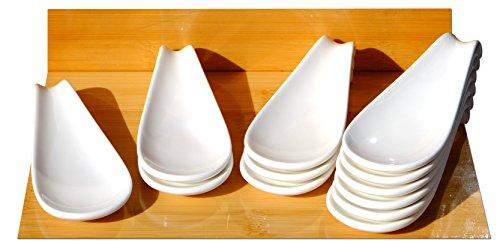 Cuillère à affichage en céramique Canape blanc 4.7x12cm x 12