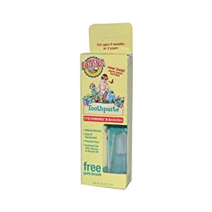 Earths Best Toddler Toothpaste Strawberry Banana - 1.6 oz
