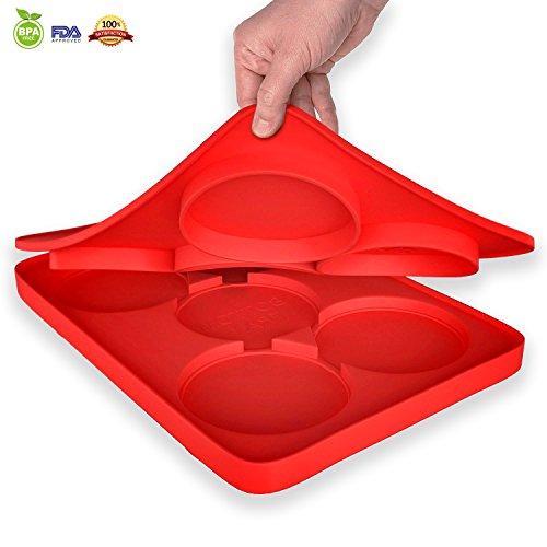 snaideal-silicon-hamburger-patty-maker-stampo-rotondo-hamburger-master-5-in-1-bambino-pronto-per-bis