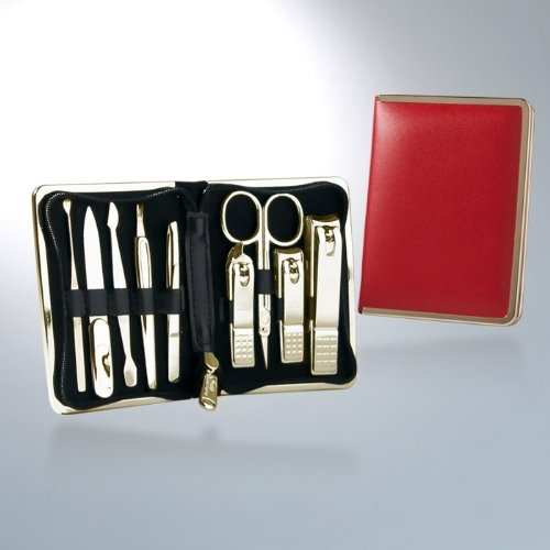 World No. 1. Three Seven 777 Travel Manicure Pedicure Grooming Kit Set - Included (Total 9 Pcs: Toe Nail Clipper, Nail Clipper, Cuticle Trimmer, Tweezers, File, Beauty Scissors, Double-sided Push Stick, V-Shaped Push Stick, Ear Pickl: TS-930RG), Made in Korea, Since 1975. Not 3rd Party, Original Three Seven (777) Product. (Pickls compare prices)