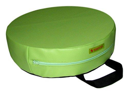 BARFUSS-Kinder-Sitzerhhung-Lederoptik-rund-grn