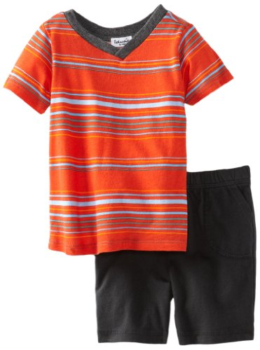 Today Sale Splendid Littles Baby-Boys Newborn Gladiator Stripe Short Set, Spice, 3-6 Months