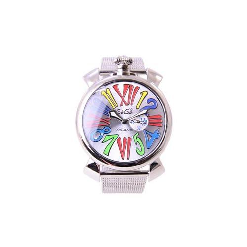(ガガミラノ)GaGa MILANO ガガミラノ腕時計 マヌアーレ スリム 5080.1 ユニセックス ステンレス クオーツ シルバー マルチカラー男女兼用腕時計 [並行輸入品]
