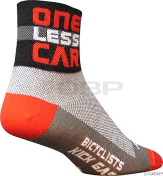 Buy Low Price Sockguy One Less Car socks,red/black – 9-13 (LESS L)