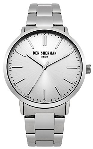Ben Sherman Men's Quartz Watch with Silver Dial Analogue Display and Silver Stainless Steel Bracelet WB061SM