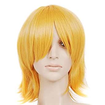 Strawberry Blonde Short Chin Length Anime Cosplay Costume Wig
