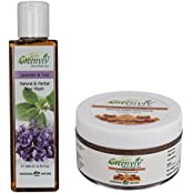 Greenviv Natural Combo Of Lavender & Tulsi Hair Wash (200 Ml) With Fruity Brown Sugar Face Scrub (50 Gm)