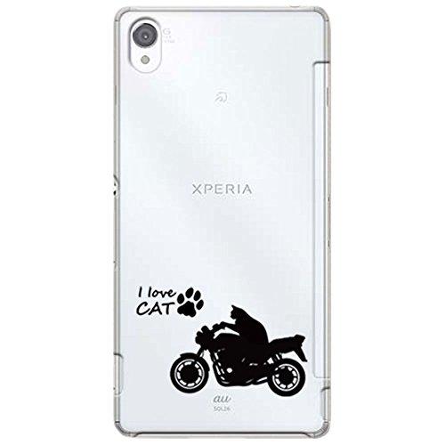 otas Xperia Z3 SO-01G SOL26 カバー ハードケース ポリカーボネイト クリアケース ねこバイク 888-37776