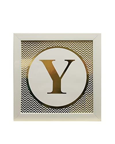 "Star Creations Gold Foil Letter Collection Letter Y, 14"" x 14"""