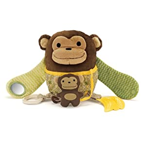 Skip Hop Hug and Hide Activity Toy, Monkey