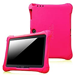 Fintie Samsung Galaxy Tab 3 10.1 and Galaxy Tab 4 10.1 Kiddie Case - Ultra Light Weight Shock Proof Kids Friendly Cover, Magenta