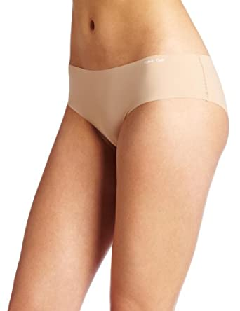Calvin Klein Women's Invisibles Hipster Panty Underwear, Light Caramel, Large