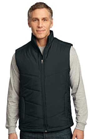 Port Authority Puffy Vest>XS Dark Slate/Black J709