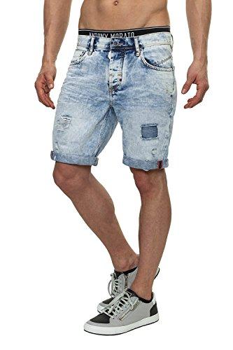 Antony Morato Jeans da uomo pantaloncini Denim Shorts Blu (7010) W36