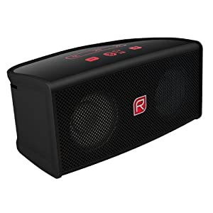Raikko TOUCH Bluetooth Stereo mini aktiv Lautsprecher inkl. Akku (2x 3 Watt, micro-USB, Line-IN) schwarz