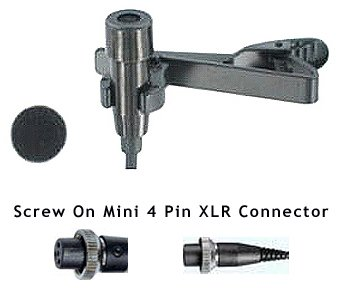 AV-JEFE CM520 Professional Lavalier Mic with Mipro / Peavey / Beyer Mini 4pin Screw-On Connector