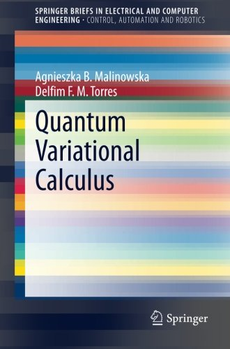 Quantum Variational Calculus (SpringerBriefs in Electrical and Computer Engineering)