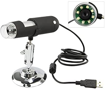 IMAGE® Digital USB Microscope Magnifier with Stand (2Mega Pixels, 400X Magnification, 1600x1200 Capture Resolution)