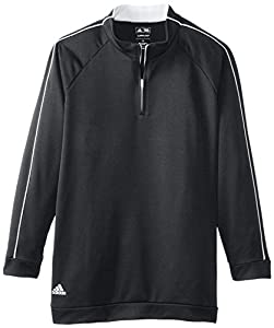 adidas Golf Boy's 3-Stripes Piped 1/4 Zip Jacket by TaylorMade - Adidas Golf Apparel