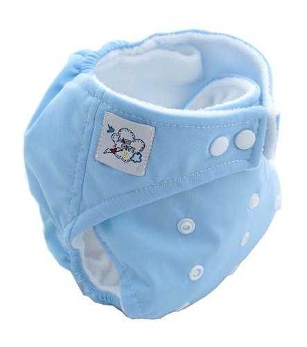 One Size Fit All (8.8 - 33pounds) 9 Color Baby Adjustable Cloth Diaper Reusable Nappy (blue)