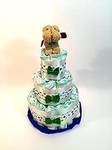 Tarta de pañales DODOT perrito toalla marrón