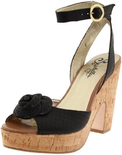 Seychelles Women's Sands of Time Ankle-Strap Sandal,Black,9 M US