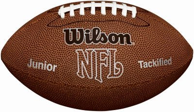 Wilson NFL MVP Junior Football with Pump and Tee, Brown from Wilson