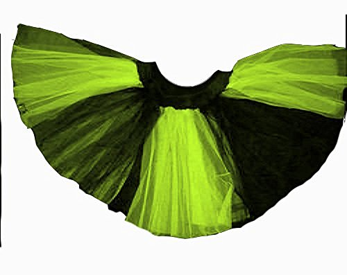 Plus Size Lime Black Stripe 2 Tone Tutu Dance Halloween Free Shipping