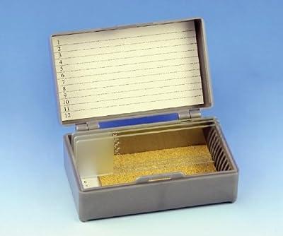 Slide Storage Boxes ( BOX, SLIDE, 12 SLIDES, CORK LINED, GRAY ) 1 Each / Each by Med Industries Preferred Partner