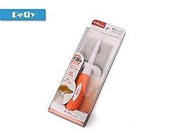 Petiy Design-Plastic Grip Metal Pet Grooming Tool Comb for Cat Dog Y91014