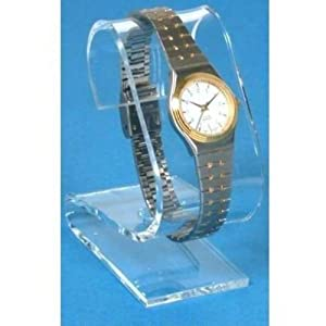 Clear Acrylic Watch Display Stand Showcase Countertop