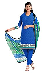 Nilkanth Enterprise Blue Dress Material