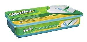 Swiffer - 81255558 - Lingettes Humides pour Sols x 12 - 4 Boites