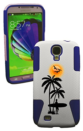 Phonetatoos (Tm) For Galaxy S4 Vacation Plastic & Silicone Case-Lifetime Warranty (Blue)