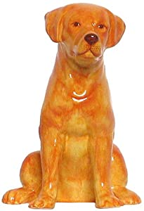 "Ceramic Pottery Golden Lab Dog Bank Approx. 7.5""H"