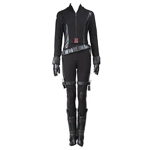 Manles Women's The Avengers Black Widow Natasha Romanoff Cosplay Costume Small (Black Widow Avengers Costume)