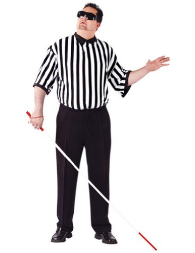 Adult-Costume Blind Referee Adult Plus Halloween Costume - Adult Plus