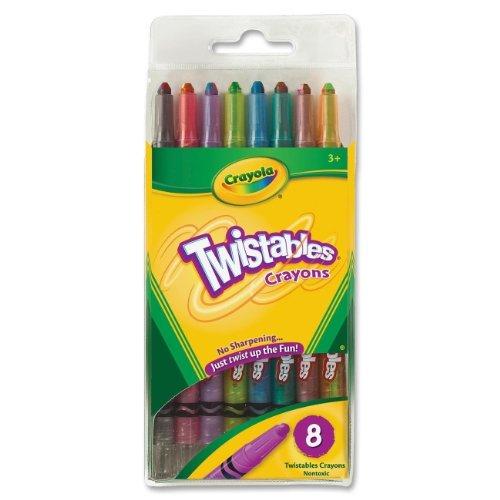 BIN527408 - Twistable Crayons, 8/PK, RD/YW/BE/OE/VT/GN/BK/BN