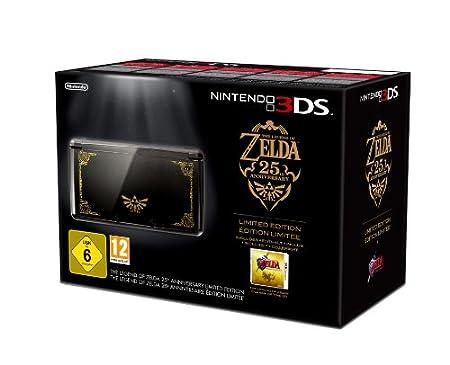 3DS Konsole + The Legend of Zelda: Ocarina of Time 3D, schwarz