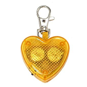Amazon.com: Yellow Heart Flash LED Light Lobster Clasp Key Chain